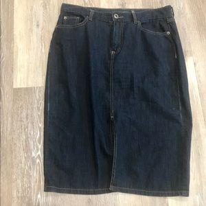 Women's LRL Ralph Lauren Blue Jean Skirt sz 4.